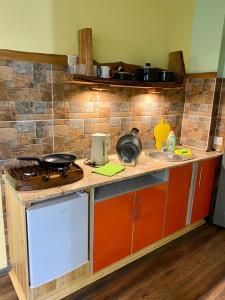 Кухня или мини-кухня в Отдых в Браславе