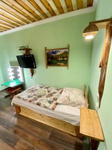 Кровать или кровати в номере Отдых в Браславе