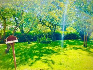 En trädgård utanför Solakoop B&B