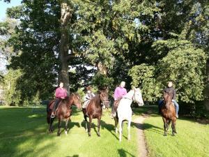 Jāšana ar zirgu dzīvokļa tuvumā