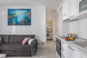A kitchen or kitchenette at Hortenzija Apartments