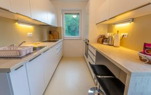 A kitchen or kitchenette at Lake Bled Apartments