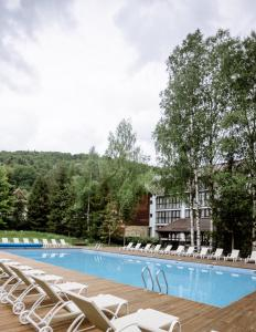 The swimming pool at or near Yaremche Club Hotel