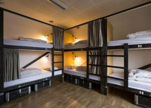 A bunk bed or bunk beds in a room at Danhostel Aarhus City