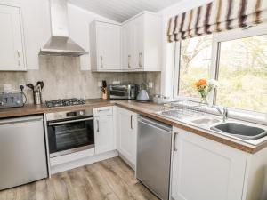 A kitchen or kitchenette at Dove Lodge
