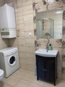 Łazienka w obiekcie Komfortowe studio 52 m2 w centrum Grójca