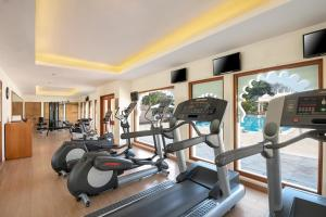 The fitness center and/or fitness facilities at Trident Udaipur