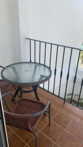 En balkong eller terrass på Apartamentos Balcon de Carabeo