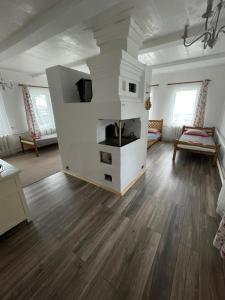 A kitchen or kitchenette at Guesthouse U Batushki