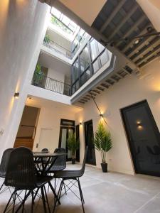 Zona de estar de OMA Cádiz Apartments