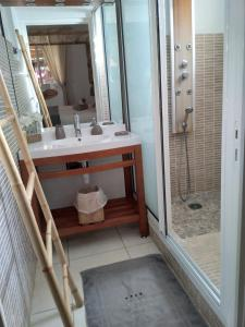 A bathroom at Villa mimosa
