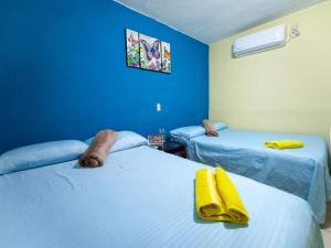 Cama o camas de una habitación en Estancia Moreno