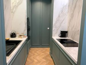 Cuisine ou kitchenette dans l'établissement Appartement de 60 m2 tout juste rénové à Saint Malo Intra-Muros
