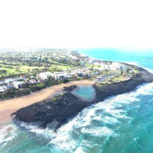 A bird's-eye view of Sandcastles on the Beach Bargara