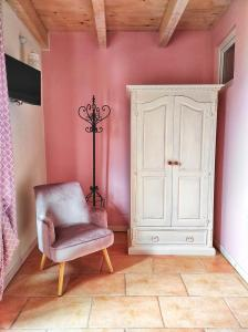 A seating area at La Rocca Dell'Innominato