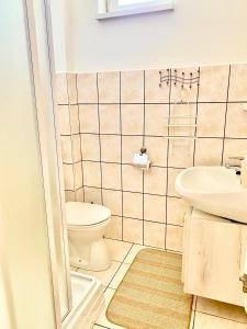 A bathroom at Barki Apartman