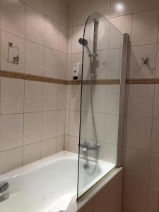 A bathroom at Hotel Hraun