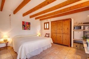 Cama o camas de una habitación en Finca Can Carro