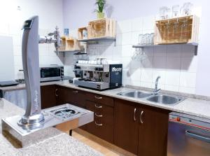 A kitchen or kitchenette at Albergue Melide