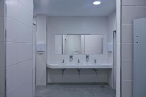 A bathroom at Albergue Bela Muxia