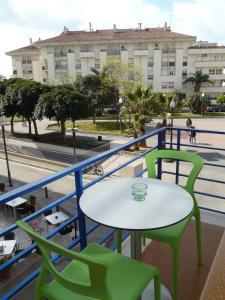 A balcony or terrace at Hotel Alexandra