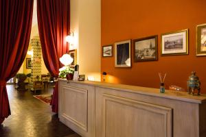 The lobby or reception area at Albergo Centrale Scanno
