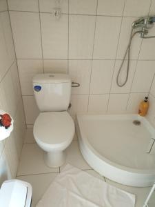 A bathroom at Kukoriškių nameliai
