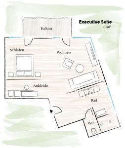Grundriss der Unterkunft zelloon boutiquehotel