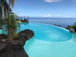 A piscina localizada em Mata Miti Villa Paradise Tahiti ou nos arredores