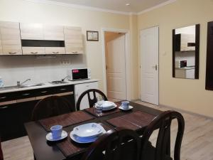 A kitchen or kitchenette at Völgy Apartman