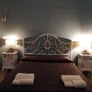 Letto o letti in una camera di Villa Oasi