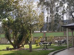 A garden outside El Pinar