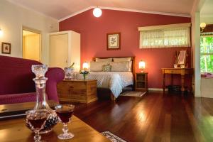 A bed or beds in a room at The Falls Montville