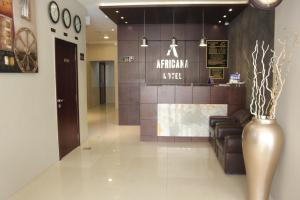The lobby or reception area at Africana Hotel
