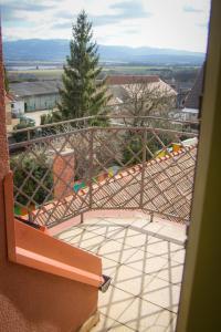 A balcony or terrace at Hotel Bojnický Vínny Dom