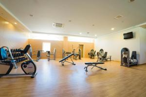 The fitness center and/or fitness facilities at Kandia's Castle Resort & Thalasso Nafplio