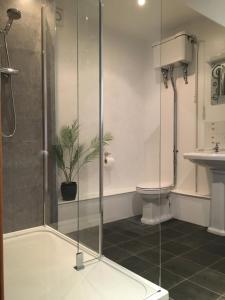 A bathroom at Higher Carthew Farm