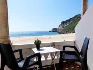 A balcony or terrace at Hotel Cubata