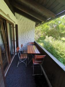 Ein Balkon oder eine Terrasse in der Unterkunft Almhof Baumgarten