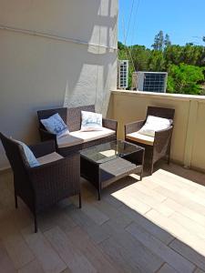 A seating area at Villetta Ludovica
