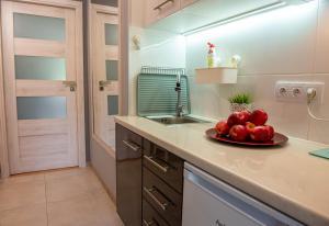 A kitchen or kitchenette at Apartament u Janka