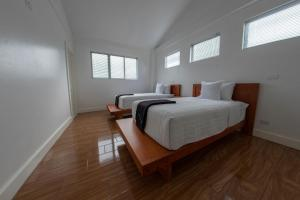 A bed or beds in a room at Casa Bela
