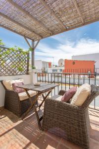 Een balkon of terras bij La Morada Mas Hermosa