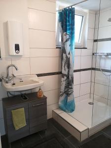 A bathroom at Sinner Studios