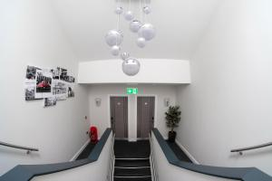 The lobby or reception area at Anelli Hotel
