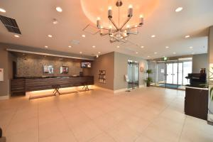 Area lobi atau resepsionis di Dormy Inn Asahikawa