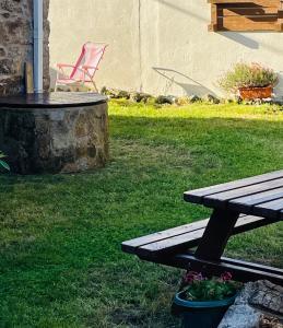 A garden outside Albergue-Hostel Casa da Gandara