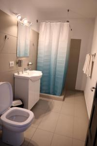 A bathroom at Hotel Dunavis
