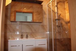 Ein Badezimmer in der Unterkunft Spreewaldhof
