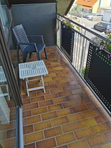 Ein Balkon oder eine Terrasse in der Unterkunft Ferienwohnung Steigerwaldblick